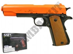 M21 Airsoft BB Gun Black and Orange